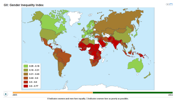Gender Inequality Index around the world
