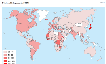 World data maps data statistics and visualizations knoema public debt maps for countries gumiabroncs Choice Image